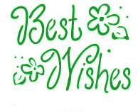 Best Wishes Stencil
