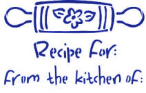 Recipe from the Kitchen off Stencil